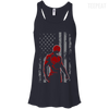 CustomCat Apparel Bella+Canvas Flowy Racerback Tank / Midnight / X-Small Daredevil USA Flag Ladies Tee