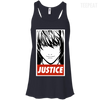 CustomCat Apparel Bella+Canvas Flowy Racerback Tank / Midnight / X-Small Death Note Justice Ladies Tee