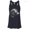 CustomCat Apparel Bella+Canvas Flowy Racerback Tank / Midnight / X-Small Death Star Ladies Tee