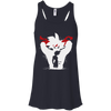 CustomCat Apparel Bella+Canvas Flowy Racerback Tank / Midnight / X-Small Dragon Ball Z Bardock Ladies Tee