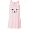CustomCat Apparel Bella+Canvas Flowy Racerback Tank / Soft Pink / X-Small Cat Face Tee