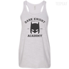 CustomCat Apparel Bella+Canvas Flowy Racerback Tank / Vintage White / X-Small Dark Knight Academy Tee