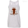 CustomCat Apparel Bella+Canvas Flowy Racerback Tank / Vintage White / X-Small Deadpool Pulse Light Tee
