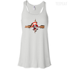 CustomCat Apparel Bella+Canvas Flowy Racerback Tank / White / X-Small Captain Pulse Ligth Tee