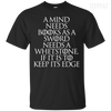 CustomCat Apparel Custom Ultra Cotton T-Shirt / Black / Small A Mind Needs Books Tee