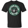 CustomCat Apparel Custom Ultra Cotton T-Shirt / Black / Small Arkham Asylum Coffee Tee