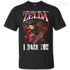 CustomCat Apparel Custom Ultra Cotton T-Shirt / Black / Small Call Me Zelda I Dare You Tee