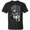 CustomCat Apparel Custom Ultra Cotton T-Shirt / Black / Small Captain America Flag Tee
