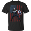 CustomCat Apparel Custom Ultra Cotton T-Shirt / Black / Small Captain America Tee