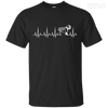 CustomCat Apparel Custom Ultra Cotton T-Shirt / Black / Small Cardiogram Dog Tee