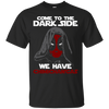 CustomCat Apparel Custom Ultra Cotton T-Shirt / Black / Small Come To The Dark Side Tee