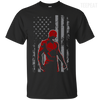 CustomCat Apparel Custom Ultra Cotton T-Shirt / Black / Small Daredevil USA Flag Tee