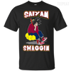 CustomCat Apparel Custom Ultra Cotton T-Shirt / Black / Small DBZ - Saiyan Swaggin Tee