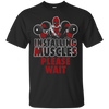 CustomCat Apparel Custom Ultra Cotton T-Shirt / Black / Small Deadpool Installing Muscles Tee