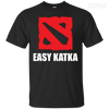 CustomCat Apparel Custom Ultra Cotton T-Shirt / Black / Small Dota 2 Easy Katka Tee