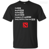 CustomCat Apparel Custom Ultra Cotton T-Shirt / Black / Small Dota 2 END Tee
