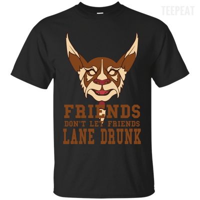 CustomCat Apparel Custom Ultra Cotton T-Shirt / Black / Small Dota 2 Lane Drunk Tee