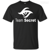 CustomCat Apparel Custom Ultra Cotton T-Shirt / Black / Small Dota 2 Team Secret Tee