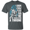 CustomCat Apparel Custom Ultra Cotton T-Shirt / Dark Heather / Small A Throne Tee