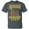 CustomCat Apparel Custom Ultra Cotton T-Shirt / Dark Heather / Small Aquaman Swimming Team Tee