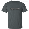 CustomCat Apparel Custom Ultra Cotton T-Shirt / Dark Heather / Small Bat Pulse Tee