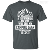 CustomCat Apparel Custom Ultra Cotton T-Shirt / Dark Heather / Small Biggest Fear Camping Gear Tee