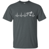 CustomCat Apparel Custom Ultra Cotton T-Shirt / Dark Heather / Small Cardiogram Dog Tee