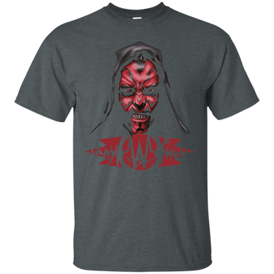 CustomCat Apparel Custom Ultra Cotton T-Shirt / Dark Heather / Small Darth Maul Pulse Tee