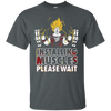 CustomCat Apparel Custom Ultra Cotton T-Shirt / Dark Heather / Small DBZ - Installing Muscles Tee