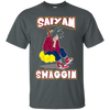 CustomCat Apparel Custom Ultra Cotton T-Shirt / Dark Heather / Small DBZ - Saiyan Swaggin Tee