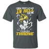 CustomCat Apparel Custom Ultra Cotton T-Shirt / Dark Heather / Small DBZ - Vegeta's Throne Tee