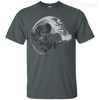 CustomCat Apparel Custom Ultra Cotton T-Shirt / Dark Heather / Small Death Star Tee