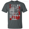 CustomCat Apparel Custom Ultra Cotton T-Shirt / Dark Heather / Small Do You Bleed Tee