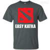 CustomCat Apparel Custom Ultra Cotton T-Shirt / Dark Heather / Small Dota 2 Easy Katka Tee