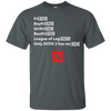 CustomCat Apparel Custom Ultra Cotton T-Shirt / Dark Heather / Small Dota 2 END Tee