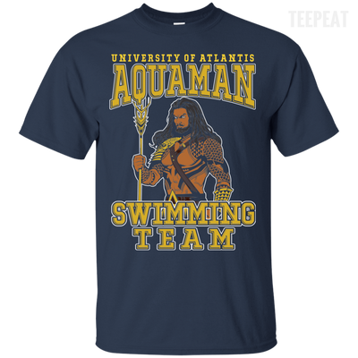 CustomCat Apparel Custom Ultra Cotton T-Shirt / Navy / Small Aquaman Swimming Team Tee