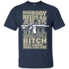 CustomCat Apparel Custom Ultra Cotton T-Shirt / Navy / Small Bitch Here You Are Tee