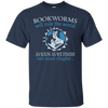 CustomCat Apparel Custom Ultra Cotton T-Shirt / Navy / Small Bookworms Will Rule The World Tee