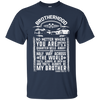 CustomCat Apparel Custom Ultra Cotton T-Shirt / Navy / Small Brotherhood Tee