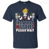 CustomCat Apparel Custom Ultra Cotton T-Shirt / Navy / Small DBZ - Installing Muscles Tee
