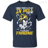 CustomCat Apparel Custom Ultra Cotton T-Shirt / Navy / Small DBZ - Vegeta's Throne Tee