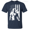 CustomCat Apparel Custom Ultra Cotton T-Shirt / Navy / Small Deadpool Flag Tee