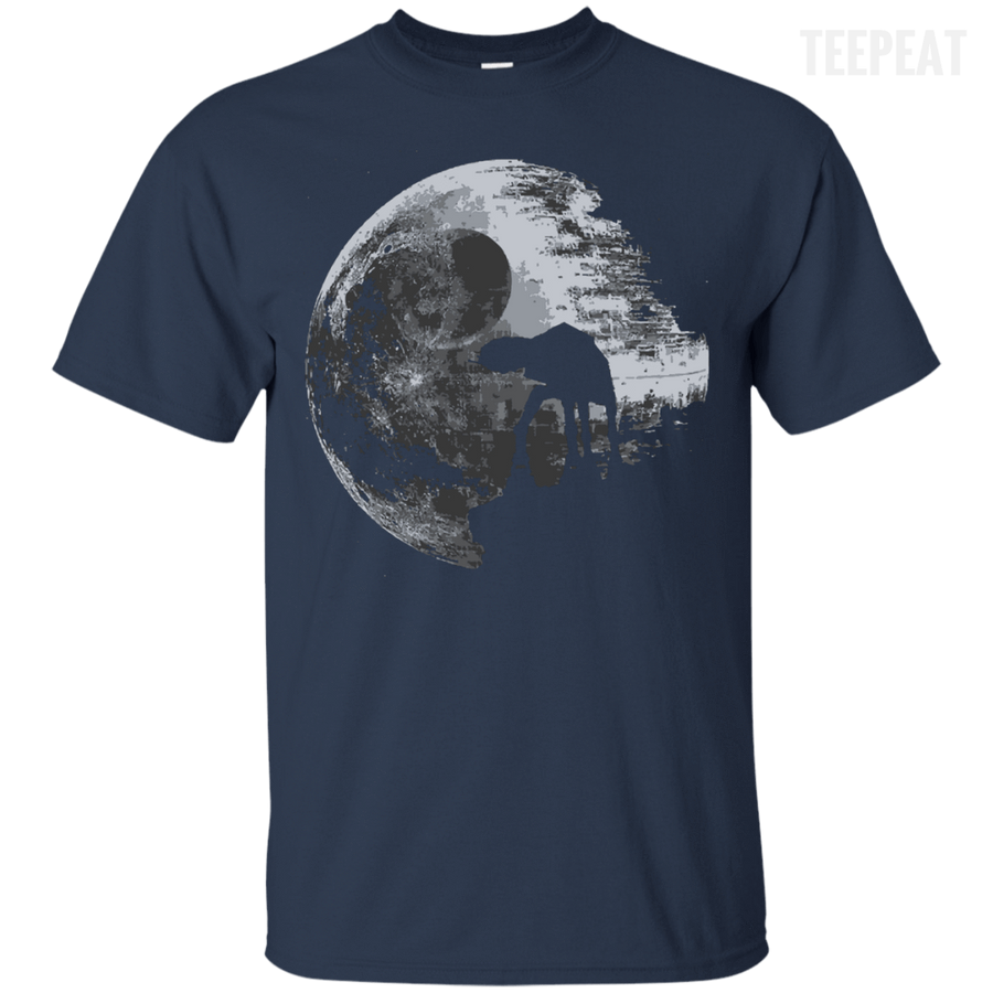 CustomCat Apparel Custom Ultra Cotton T-Shirt / Black / Small Death Star Tee