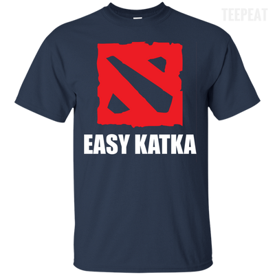 CustomCat Apparel Custom Ultra Cotton T-Shirt / Navy / Small Dota 2 Easy Katka Tee