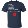 CustomCat Apparel Custom Ultra Cotton T-Shirt / Navy / Small Dota 2 END Tee