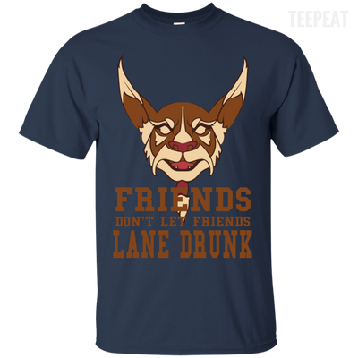 CustomCat Apparel Custom Ultra Cotton T-Shirt / Navy / Small Dota 2 Lane Drunk Tee