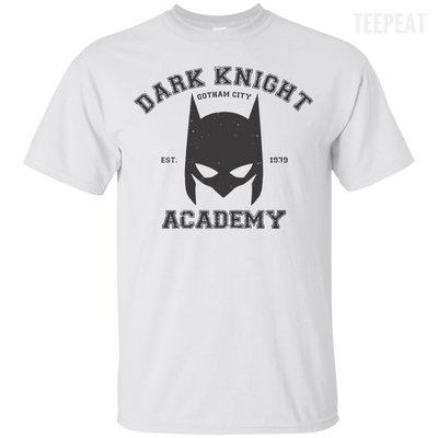 CustomCat Apparel Custom Ultra Cotton T-Shirt / White / Small Dark Knight Academy Tee