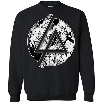 CustomCat Apparel G180 Gildan Crewneck Pullover Sweatshirt  8 oz. / Black / Small Chester Linkin Park Logo Tee