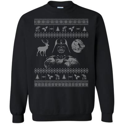 CustomCat Apparel G180 Gildan Crewneck Pullover Sweatshirt  8 oz. / Black / Small Darth - Ugly Sweater