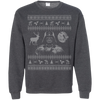 CustomCat Apparel G180 Gildan Crewneck Pullover Sweatshirt  8 oz. / Dark Heather / Small Darth - Ugly Sweater